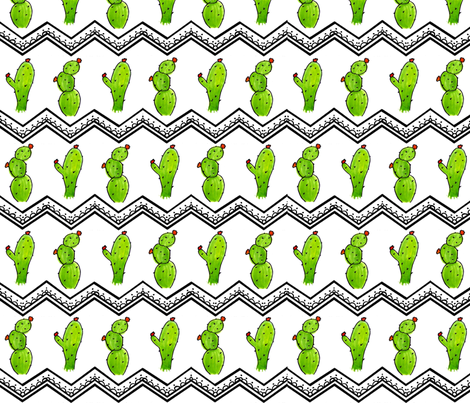 Cactus Chevron fabric by sweetleighmama on Spoonflower - custom fabric