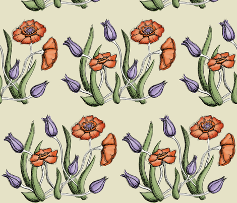 FlowerFabric2 fabric by sorensen on Spoonflower - custom fabric