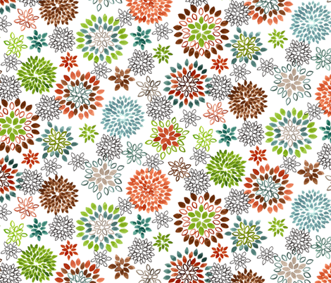 My Garden fabric by holly_helgeson on Spoonflower - custom fabric