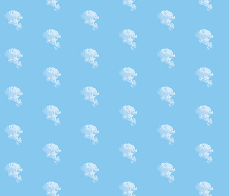 White Fluffy Clouds 1, S fabric by animotaxis on Spoonflower - custom fabric