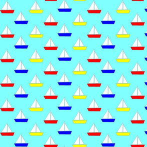 Sailboats multicolored