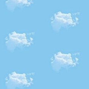 White Fluffy Clouds 2, S