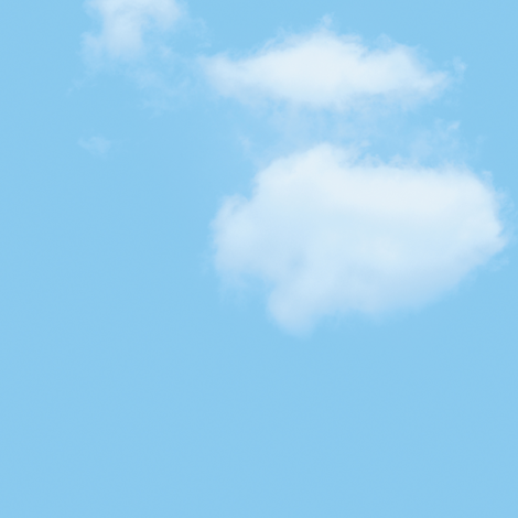 White Fluffy Clouds 4, L