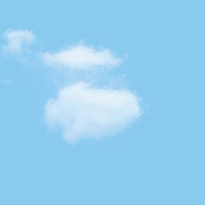 White Fluffy Clouds 4, L