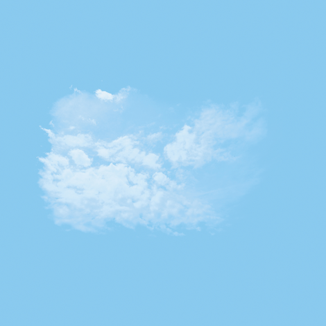 White Fluffy Clouds 5, L