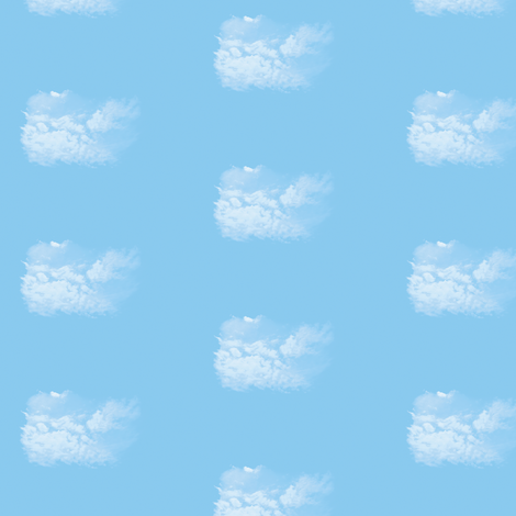 White Fluffy Clouds 5, S fabric by animotaxis on Spoonflower - custom fabric