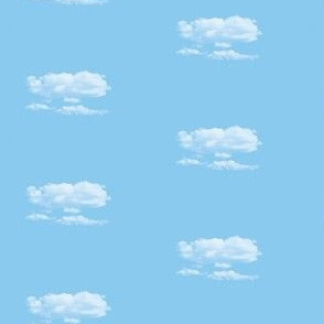 White Fluffy Clouds 6, S