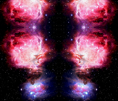The Great Orion Nebula fabric by retropopsugar on Spoonflower - custom fabric