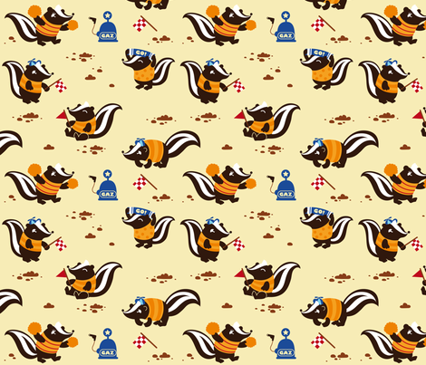 Skunk the race! fabric by verycherry on Spoonflower - custom fabric