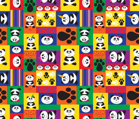 PANDA  fabric by jlwillustration on Spoonflower - custom fabric