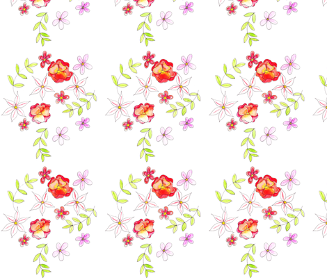 bouquet fabric by maliperdeaux on Spoonflower - custom fabric