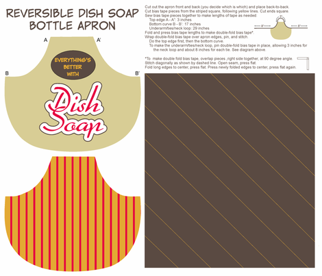 Everything's Better with Dish Soap bottle apron fabric by georgeandgracie on Spoonflower - custom fabric