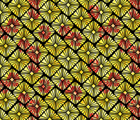 Geo Garden fabric by wildnotions on Spoonflower - custom fabric