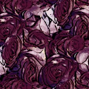 Haddyr ~ Pen & Ink Style Roses