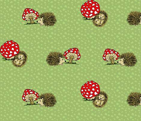 Happy Hedgehog fabric by holly_helgeson on Spoonflower - custom fabric