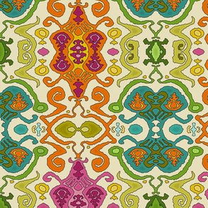 fantastical ikat cream