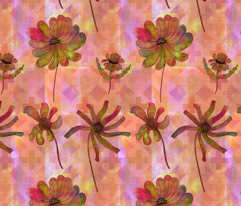 Watercolor Flowers fabric by junej on Spoonflower - custom fabric