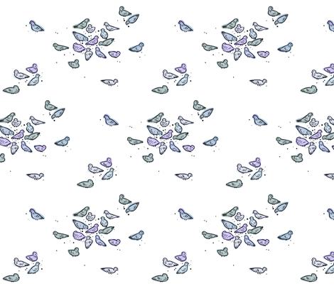 pigeons fabric by h_e_clark on Spoonflower - custom fabric
