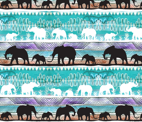 elliphanty01 fabric by the_frogging_fox on Spoonflower - custom fabric
