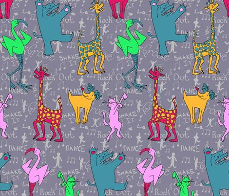 PartyAnimals fabric by moko_and_co on Spoonflower - custom fabric