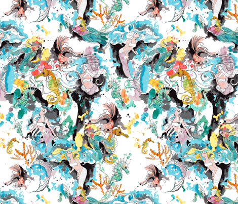 MermaidBliss-SF fabric by angie_mac on Spoonflower - custom fabric