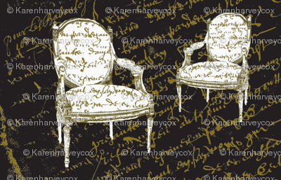 Two French Chairs, black
