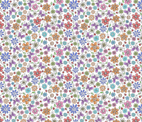 Wild Flowers fabric by holladay on Spoonflower - custom fabric
