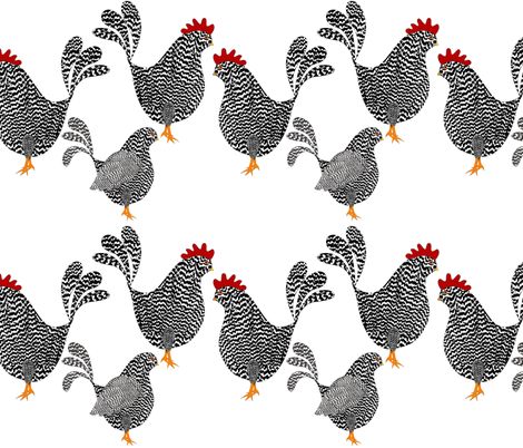 Chick, Chick, Chickens fabric by vo_aka_virginiao on Spoonflower - custom fabric