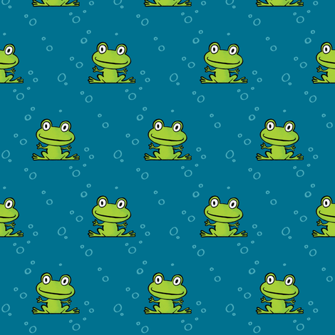 froggy fabric by alexandra_pillaert on Spoonflower - custom fabric