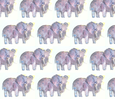 Twilight Elephant fabric by ourcountrypatch on Spoonflower - custom fabric