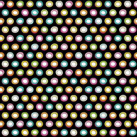 doodle spot black fabric by scrummy on Spoonflower - custom fabric