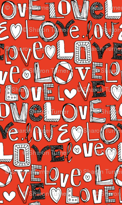 l o v e LOVE red