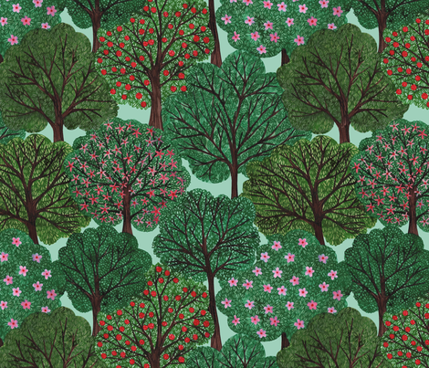 Trees Bien fabric by natacakes on Spoonflower - custom fabric