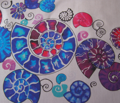 watercolour ammonites