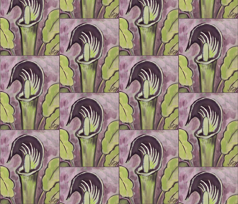 Jack_In_the_Pulpit painting fabric by dogdaze_ on Spoonflower - custom fabric