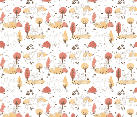 Friendly Forest fabric by taffyandtwine on Spoonflower - custom fabric
