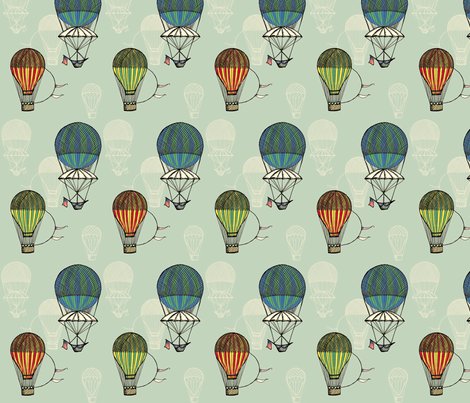 Vintage Balloons fabric by sammyb on Spoonflower - custom fabric