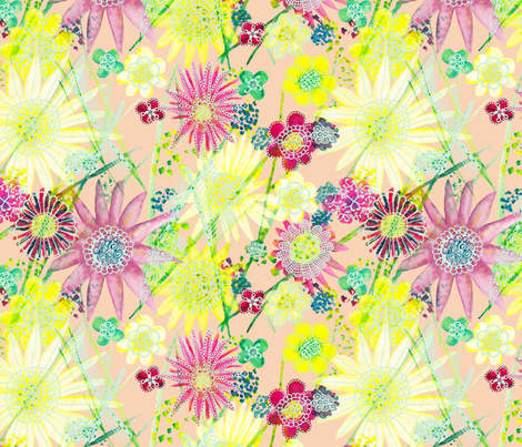Dreamy floral fabric by vicplumdesign on Spoonflower - custom fabric