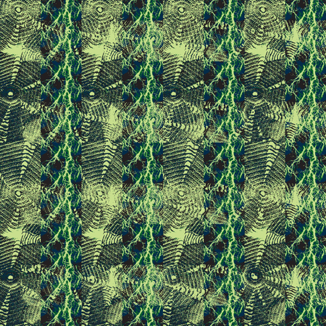 in a green night fabric by nalo_hopkinson on Spoonflower - custom fabric