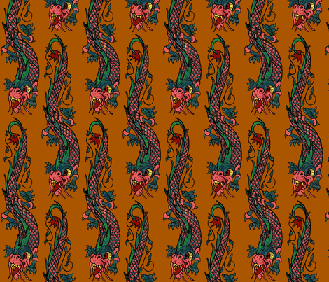 Bali dragon spice fabric by paragonstudios on Spoonflower - custom fabric