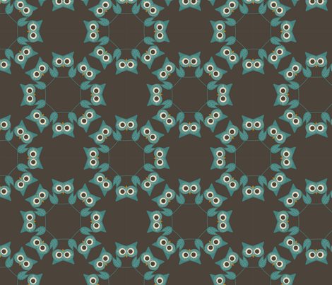 owlcoordinatesowls fabric by suziwollman on Spoonflower - custom fabric
