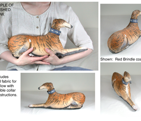 Greyhound Sewing Project Kit, blue brindle male
