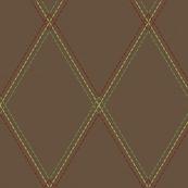 Brown Threaded Argyle