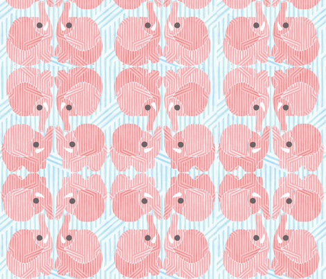 Pink Elephants fabric by leighr on Spoonflower - custom fabric