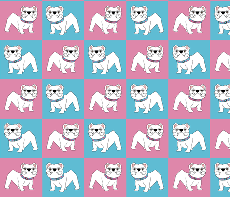 Baby Bulldogs  fabric by missyq on Spoonflower - custom fabric