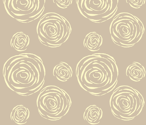 Peony in Gray fabric by anna_gregory on Spoonflower - custom fabric