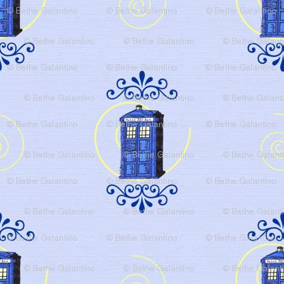 TARDIS Damask