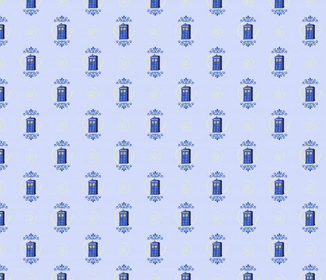 TARDIS Damask fabric by betheany on Spoonflower - custom fabric
