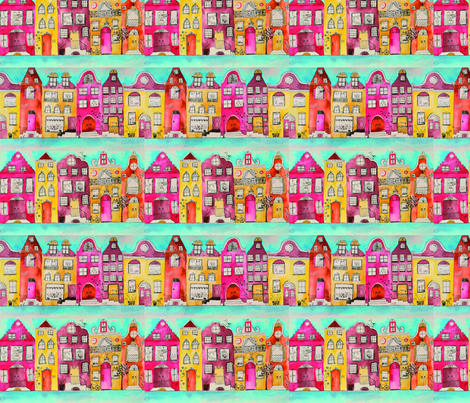 amsterdam_in_love fabric by rosie_martinez-dekker on Spoonflower - custom fabric