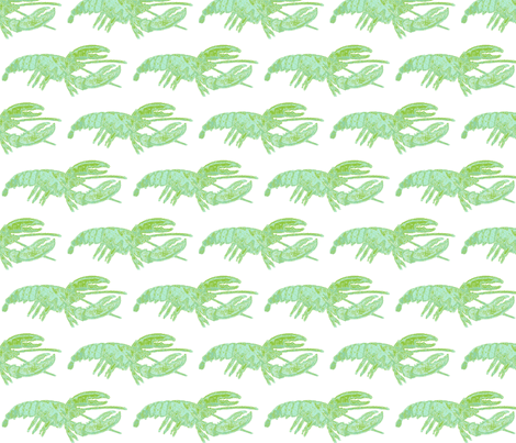 Blue/Green Lobster fabric by fireflyhill on Spoonflower - custom fabric